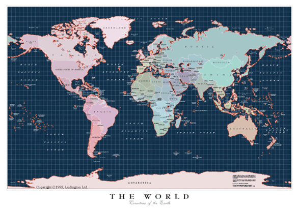 Beautiful Map Of The World.Maps World